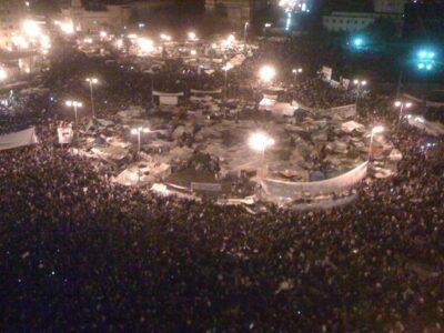 La dimissioni di Mubarak